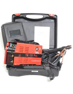 SALDATRICE INVERTER TM 131 PVC MMA 130 AMP ELETTRODO VALIGIA PVC ACCESSORI INCL.