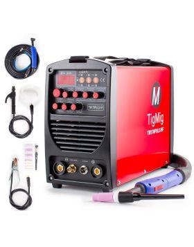 TIG INVERTER SALDATRICE PULSATA TM 170PULS HF START IGBT PROFESSIONALE WIG